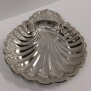 Sea Shell Silver Look Metal Serving Dish Hong Kong